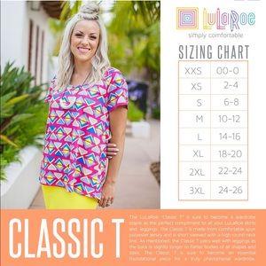 LuLaRoe Tops - EUC DISNEY ROSES XS lularoe classic T